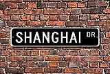 Metall Stree Shanghai Schild Geschenk Shanghai Besucher