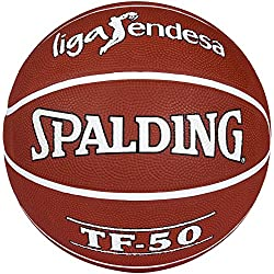 Spalding Acb Tf50 Outdoor Sz.7 73-896Z Balón de baloncesto, Ladrillo, 7