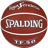 Spalding Acb Tf50  Outdoor Sz.7 73-896Z - Balón de baloncesto, color ladrillo, talla 7