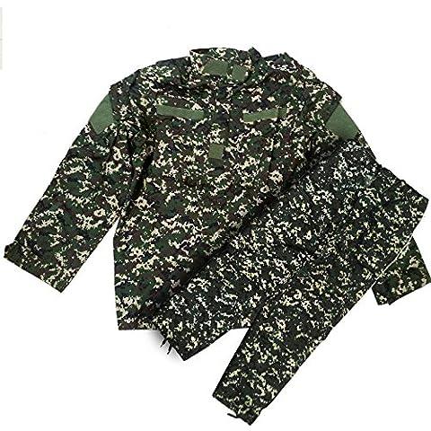 Uniforme Militar chaqueta de camuflaje digital talla L pantalones