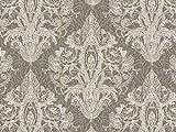 Vorhangstoff Samt Dinastia Ornamente Barock Silber braun