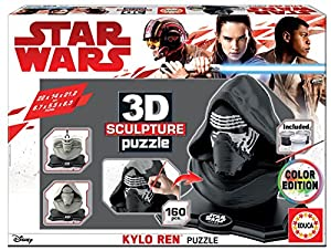 Educa Borrás- Star Wars Color 3D Sculpture Puzzle Kylo REN, no se Aplica (17802)