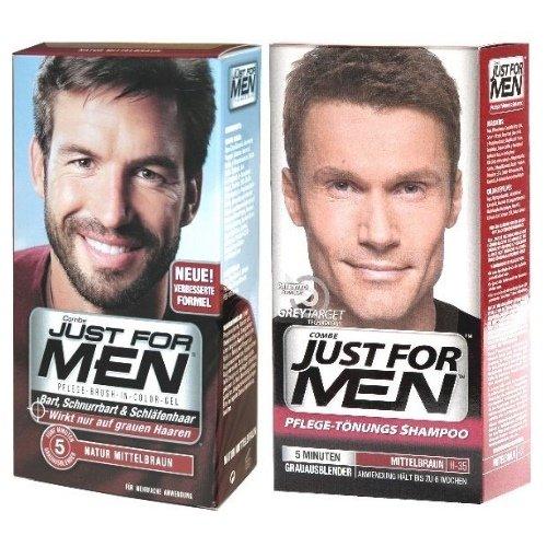 Just-for-Men-Hair-CareTnungs-Shampoo-and-Beard-Moustache-Gel-Medium-Brown-Set-of-2