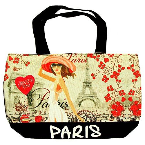 Robin Ruth - Sac Shopping Paris 'Vintage' - 46 x 30 cm