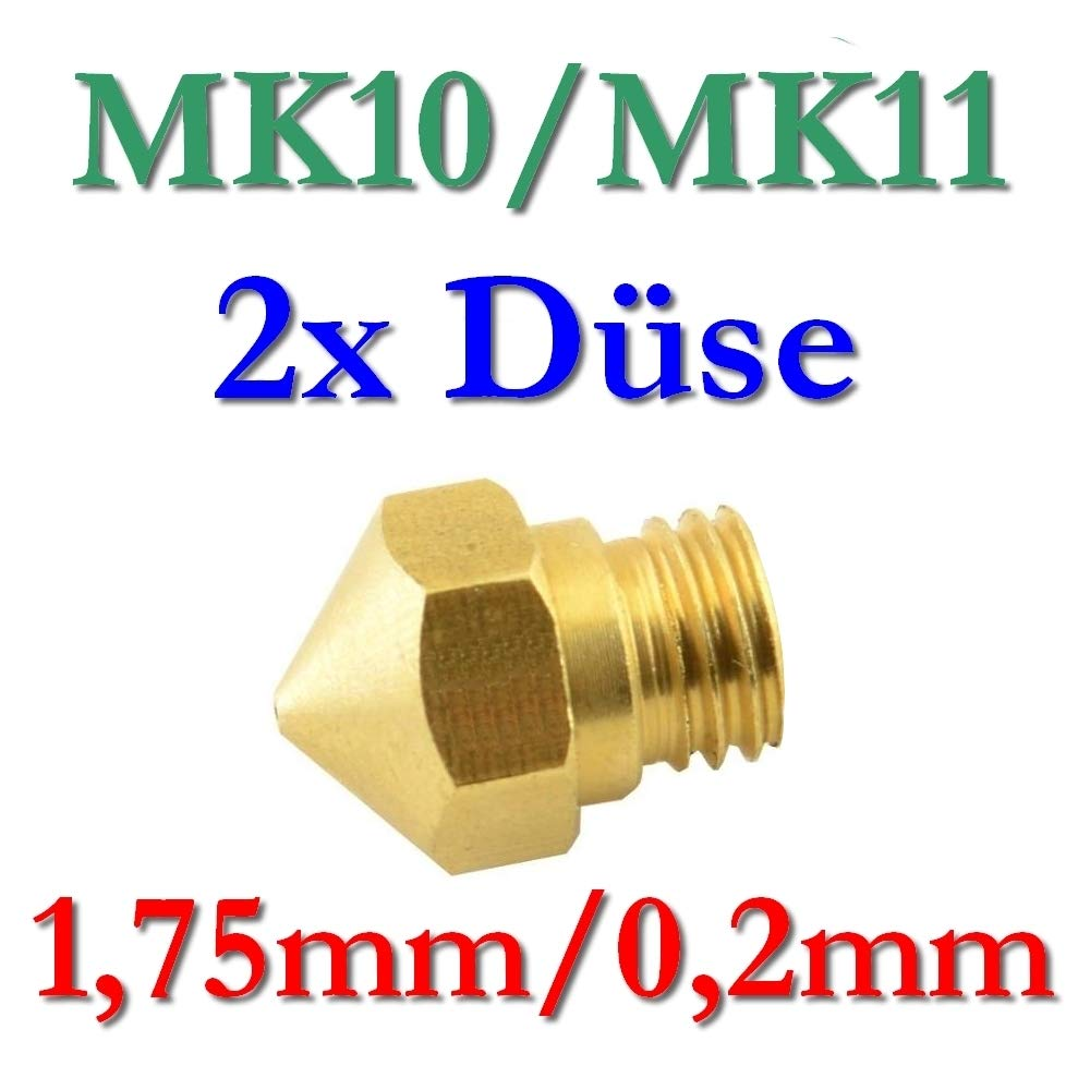 2x MK10MK11Précision Imprimante 3D Buse laiton 0,2à 0,8mm