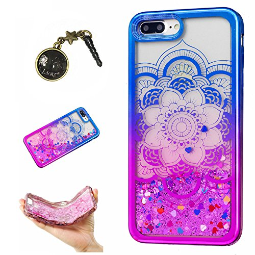Preisvergleich Produktbild Laoke für Apple iPhone 7 Plus (5.5 Zoll) Hülle Schutzhülle Handy TPU Silikon Hülle Case Cover Durchsichtig Gel Tasche Bumper ( + Stöpsel Staubschutz) (8)