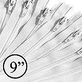 KGS Reißverschluss | 23 cm | weiße Farbe | 12 Stück/Packung