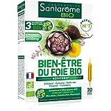Santarome Bio - Bien-Être du Foie Bio   Complément Alimentaire Foie et Digestion - A base d'Artichaut et Radis Noir   20 Ampo