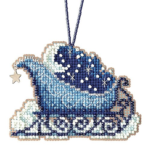 Celestial Sleigh Counted Cross Stitch Kit-2.5