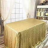YZEO 228,6x 335,3cm Doré Paillette Élégant Shimmer Mariage et Fête à Paillettes Glitz Nappe