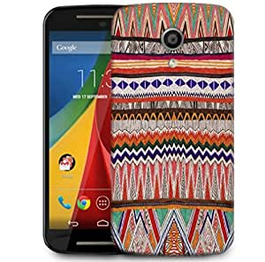 Snoogg Fabric Aztec Designer Protective Phone Back Case Cover For Motorola G 2nd Genration / Moto G 2nd Gen