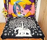 Schwarz und Weiß Queen Elefanten Mandala Bettbezug Überwurf Baumwolle Bettbezug indischen Bohemian Tapisserie 210x 228cm von Online Big Bazar