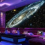 BBINGW Wallpaper 3D Mural Wallpaper Galaxy Starry Nebula Ceiling Mural Art Living Room Sofa Bedroom Background Wallpaper Painting,L450*W290Cm