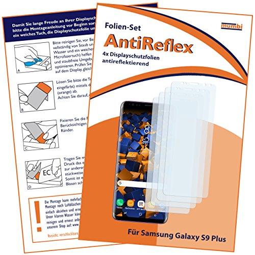 mumbi Schutzfolie kompatibel mit Samsung Galaxy S9+ Folie matt, Displayschutzfolie (4X)