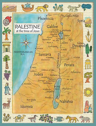 Palestine in the Time of Jesus Map (Laminated Teaching Poster)