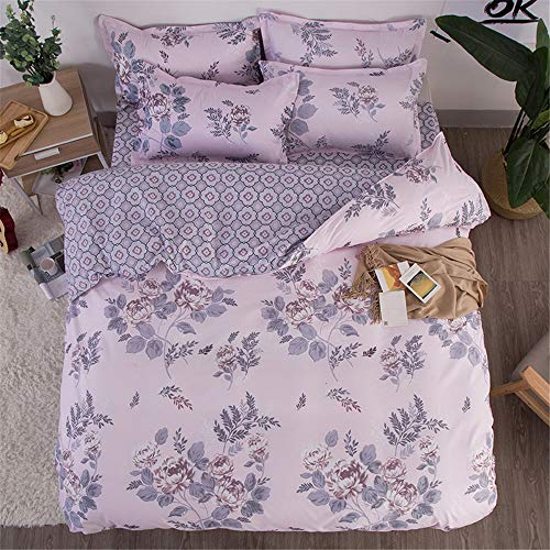 YUNSW Baumwolle Bettbezug Erwachsene Schlafzimmer Twin Voll Königin König Bettwäsche Bettbezug Tröster Abdeckung Bettwäsche A 180x220 cm -