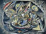 Artland Qualitätsbilder I Wandbilder Selbstklebende Wandfolie 120 x 90 cm Abstrakte Motive Malerei Bunt B6TH Komposition Graues Oval 1917