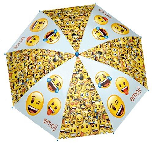 Preisvergleich Produktbild Emoji Regenschirm Stockschirm Emoticon Smiley Winky 48cm
