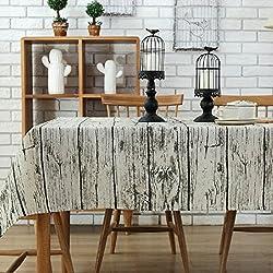 Manteles mesa rectangular - mantel antimanchas - vintage decoracion - G.G.G. Del Medio Ambiente conveniente para La Tabla de cena de la familia, Picnic Al Aire Libre, Tienda De Café, Restaurante Del Hotel(140X200CM)