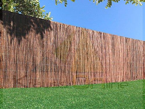 Mimbre Standard - Varillas de mimbre natural sin pelar tejidas con alambre galvanizado (1x3m)