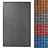 etm Fußmatte Diamond | für Außen und Innen | geprägte Struktur für Optimale Reinigungswirkung | Schmutzfangmatte in Vielen Größen und Farben (Anthrazit 60x90 cm)