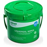 Clinell Universal Cleaning and Disinfectant Wipes Bucket - Pack of 225 - Multi Purpose Wipes, Kills 99.99% of Germs, Effectiv