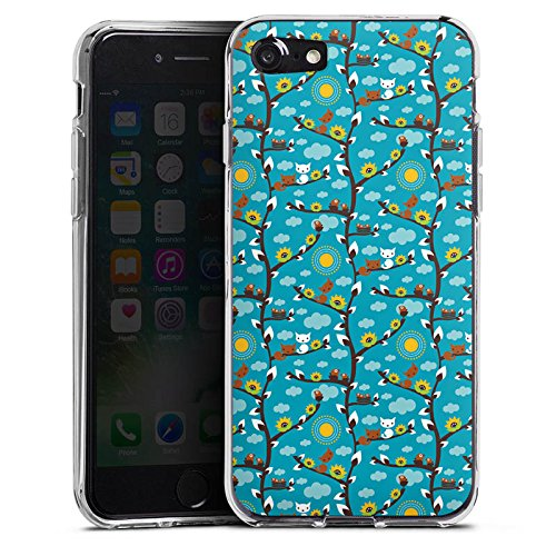 Apple iPhone X Silikon Hülle Case Schutzhülle Wolken Sonnenblumen Eichhörnchen Silikon Case transparent
