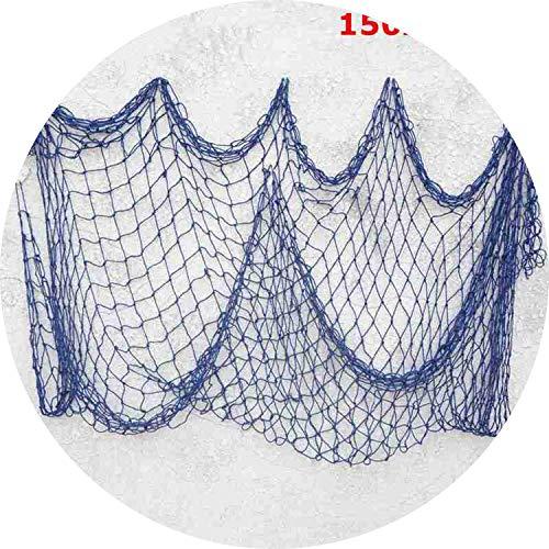 Seesaw-Min 1x2m & 1.5X2M Mediterraner Stil handgefertigt dekorativen Fischernetz Baumwollfaden Bar Fisch Nets Dekor-Strand-Szene-Party-Dekoration, 150x200cm (Dekorative Fischernetz Braun)
