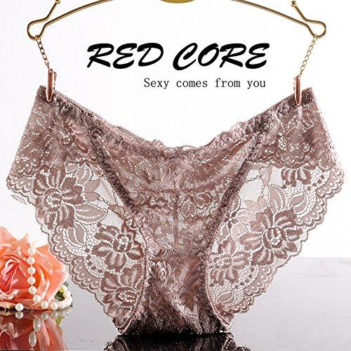RRRRZ * biancheria intima sexy lace non-marking 3 low-rise corner Pantaloni donna tentazione di adottare (32a Bra)