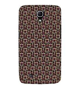 Fuson Premium Pink Heart Pattern Printed Hard Plastic Back Case Cover for Samsung Galaxy Mega 6.3 i9200