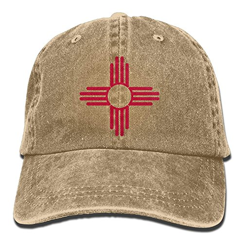 (Miedhki New Mexico Sun Symbol Vintage Adjustable Denim Hat Baseball Deckels Forman and Woman Fashion23)