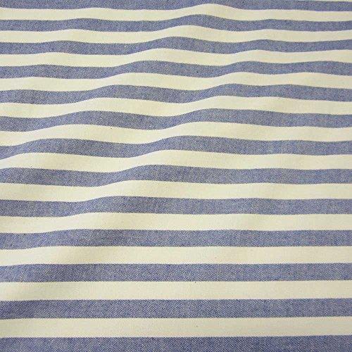 Stoff Baumwollstoff Streifen gestreift blau weiß marine Flanell weich Pyjama (Flanell-pyjama Weiß)