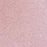 TRIXES Foglio vinilico Rosa Glitterato Carta da Parati Permanente - Autoadesivo Dorso con Carta Protettiva - Rotolo con Dorso Adesivo - 1350 x 440 mm - Pareti Arredamento superfici - Taglio a Misura