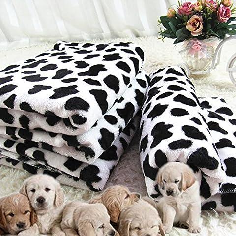 Perro de animal doméstico engrosamiento manta coral polar mantas de perro caliente manta gato mat perrera fuentes,m- (80*60) cm
