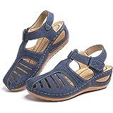 Sandali Donna Pantofole Estive Zoccoli Comode Moda Plateau Chiuso Scarpe da Lavoro Ciabatte All'aperto Wedges Mules Tacco 5cm