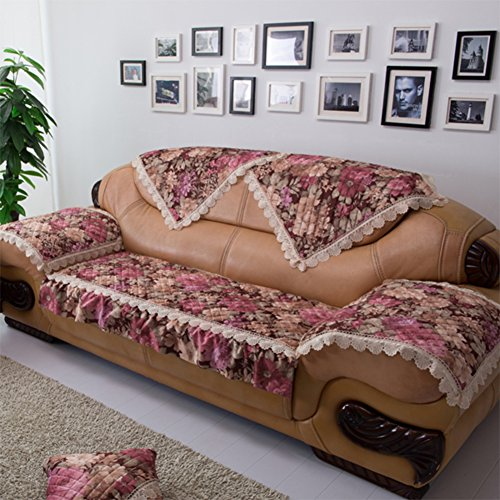 Kurze Plüschsofa Handtuch/European Style Sofa Pad/Stoff Anti-rutsch-sofa Handtuch/Sofa Setzt/Sofa-handtuch/Verdicktes Sofa Handtuch-C 110x210cm(43x83inch)