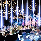 Guirnalda Luces Exterior, 10 Tubo 30cm 300 LEDs IP65 Impermeable luz Navidad, Impermeable Iluminacion Jardin Decorativas Fiestas (30cm Blanco)
