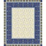 Bassetti Oplontis Mantel, Algodón, Azul, 140 x 170 x 1 cm