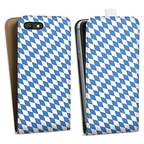 Apple iPhone 5 Silikon Hülle Case Schutzhülle Bayrische Flagge Bayern Fahne Downflip Tasche weiß