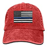 Tyuyttgvb Infant Support The Police Thin Blue Line American Flag Cute Baby Onesie Bodysuit Snapback Cotton Cap