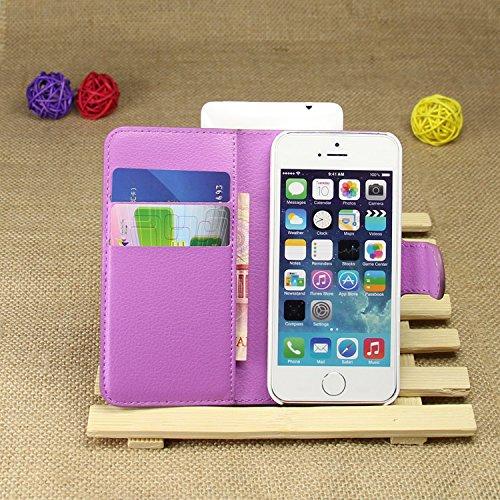 Coque iPhone 5/5S/SE,Manyip Téléphone Coque - PU Cuir rabat Wallet Housse [Porte-cartes] multi-Usage Case Coque pour iPhone 5/5S/SE,Classique Mode affaires Style C