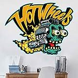 Bilderwelten Wandtattoo Hot Wheels Zombie, Sticker Wandtattoo Wandsticker Wandbild, Größe: 105cm x 140cm