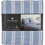 Funda nórdica de Franela para cama doble - Calidad superior - Color AZUL - 240 x 220 cm