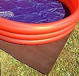 Poolunterlage Folienschutz Poolvlies Unterlage Unterlegvlies sehr dick! 1lfd mtr. 1,60 mtr breit Meterware