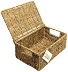 WoodLuv Seagrass Storage Basket with...