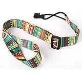 Luckybaby - Correa para ukelele de estilo étnico y colorido, estilo bohemio, cinturón de algodón, cinta de transferencia térm