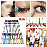 12 farbige Glitter Eyeliner Pencil Eyeliner Eye Liner Augen Kosmetik Make-up Set, Eyeliner Lipliner, Browliner by DELIAWINTERFEL