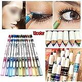 12 colores, lápices delineadores de ojos Eyeliner, Junto de cosméticos maquillaje ojos, Eyeliner Lipliner, Browliner by VIEUSINE