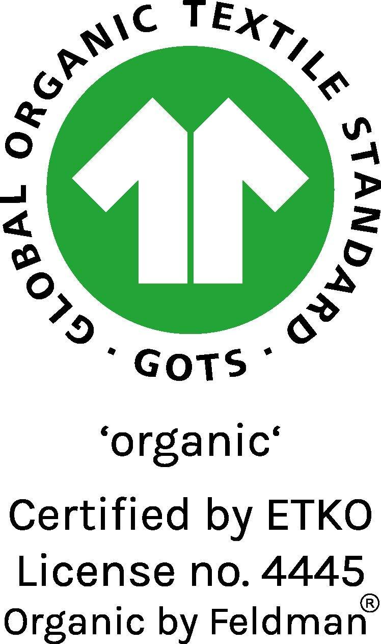 Camiseta de manga larga Organic by Feldman, 100% algodón orgánico, certificado GOTS, con cuello elástico, dobladillo… 4