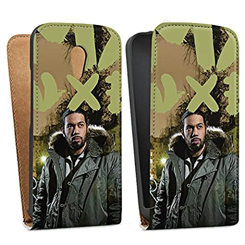 Motorola Moto G 2 Generation Downflip Bag Tasche white - Samy Deluxe - Dis wo ich herkomm Cover Skin